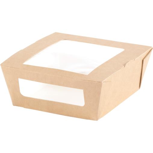 DUNI Einweg-Pappbox mit Fenster, S