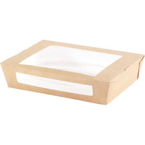 DUNI Einweg-Pappbox mit Fenster, L