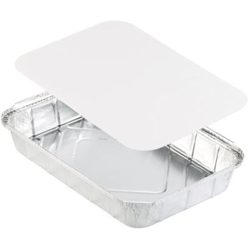 DUNI Aluminiumschale mit weißem Pappdeckel