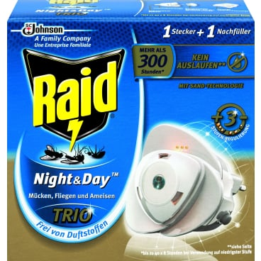 Raid® Night & Day Trio Insektenstecker