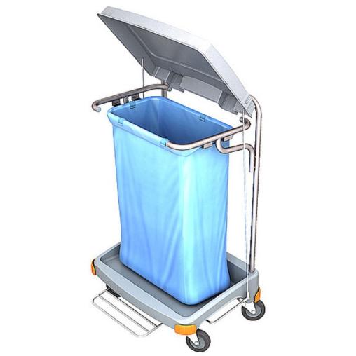 Cleankeeper Abfallsammelwagen II - 2 mit Fußpedal