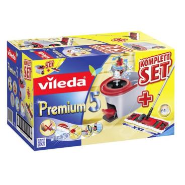 Vileda Premium 5 Komplett Set Box Wischset, 4-teilig