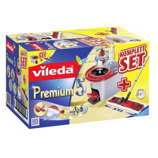 Vileda Premium 5 Komplett Set Box, 4-teilig