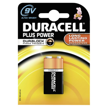 DURACELL Plus Power Alkaline- Batterie, 9V