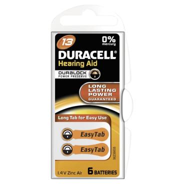 DURACELL EasyTab 13 - 1,4 V Hörgerätebatterie
