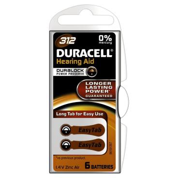 DURACELL EasyTab 312 – 1,4 V Hörgerätebatterie