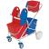 Cleankeeper Stufenwagen 12 mit Schiebegriff, verchromt