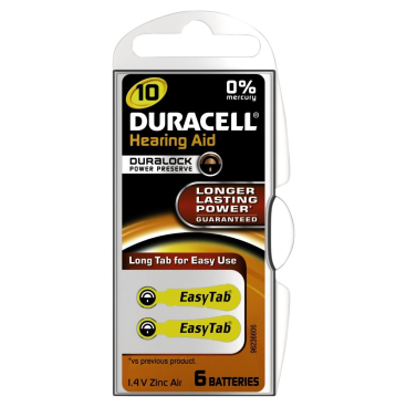DURACELL EasyTab 10 – 1,4 V Hörgerätebatterie