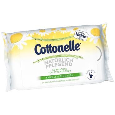 Cottonelle Feuchte Toilettentücher 2 Nachfüllpacks = 84 Tücher, Kamille & Aloe Vera