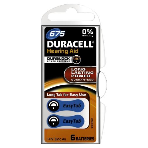 DURACELL EasyTab 675 – 1,4 V Hörgerätebatterie