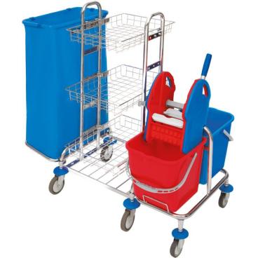 Cleankeeper Systemwagen 3, verchromt