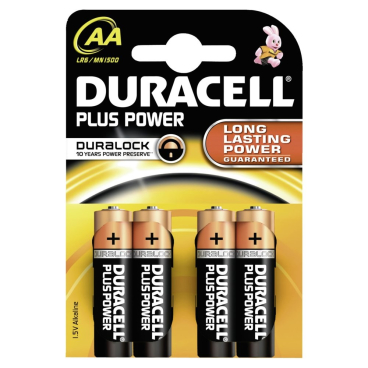DURACELL Plus Power AA Alkaline- Batterie, 1,5 V