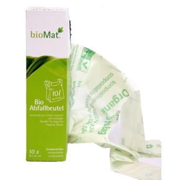 BIOMAT® Bioabfallbeutel mit Henkel in Faltschachtel, 10 Liter