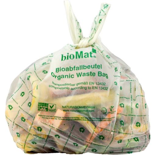 BIOMAT® Bioabfallbeutel 10 Liter mit Henkel