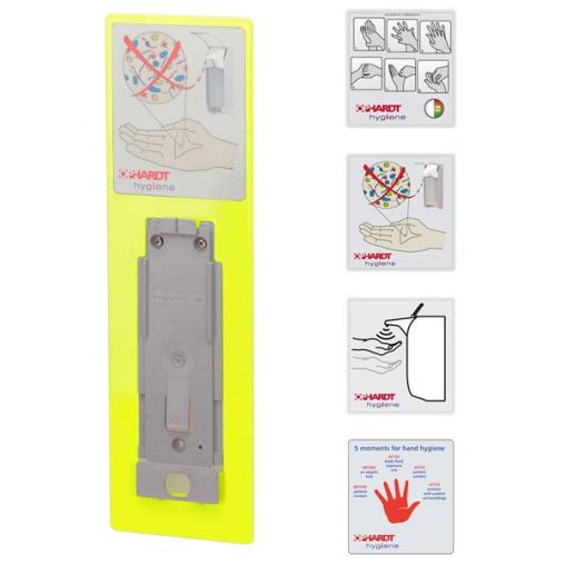 Signalrahmen mit Aufkleber für ingo-man® Spender