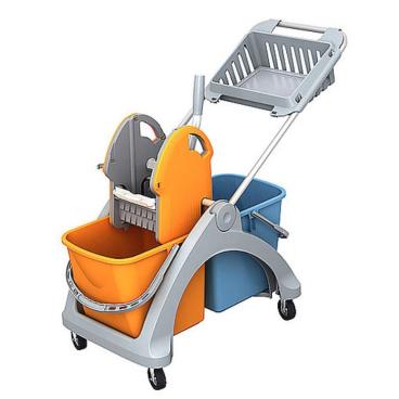 Cleankeeper Doppelfahrwagen 5 mit Deichsel