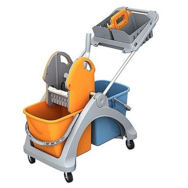 Cleankeeper Doppelfahrwagen 6 mit Deichsel