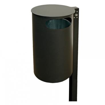 RENNER Abfallbehälter mit Pfosten, Einwurf seitlich