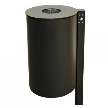 RENNER Abfallbehälter mit Pfosten, Einwurf oben