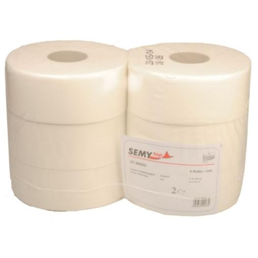 Jumbo-Toilettenpapier, geprägt, 2-lagig, hochweiß