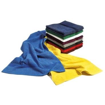 MEGA Clean Professional Baumwoll-Gästetuch, 30 x 50 cm 1 Packung = 12 Stück, Farbe: braun