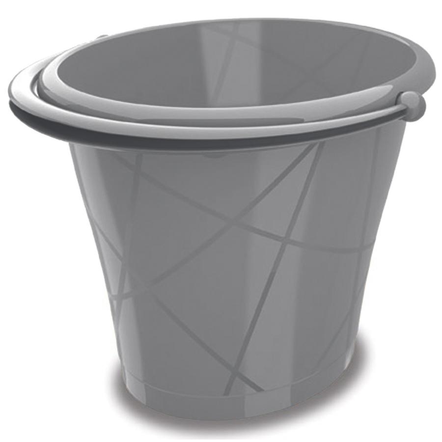 Kis Oval Bucket Eimer In Verschiedenen Farben Farbe Silber