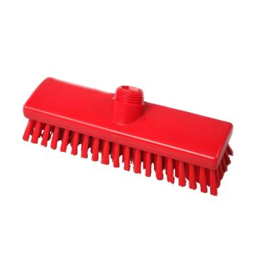 Hygiene-Schrubber, 225 x 60 mm Besatzfarbe/-höhe: rot, 30 mm