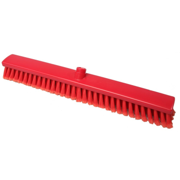 Hygiene-Großraumbesen, 600 x 60 mm Besatzfarbe/-höhe: rot, 55 mm