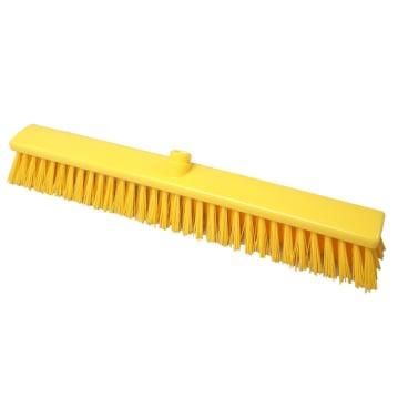 Hygiene-Großraumbesen, 600 x 60 mm Besatzfarbe/-höhe: gelb, 65 mm
