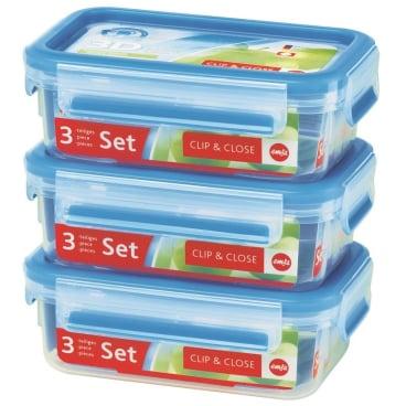 EMSA Clip & Close Frischhaltedosen 3-teiliges Set