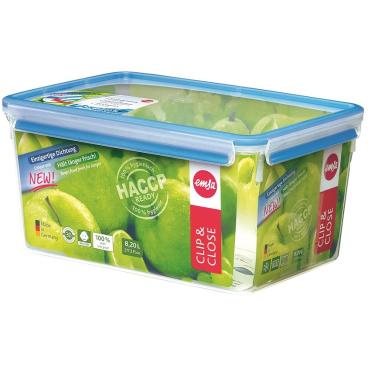 EMSA Clip & Close Frischhaltedose rechteckig, Maxiformat Fassungsvermögen: 8,2 Liter
