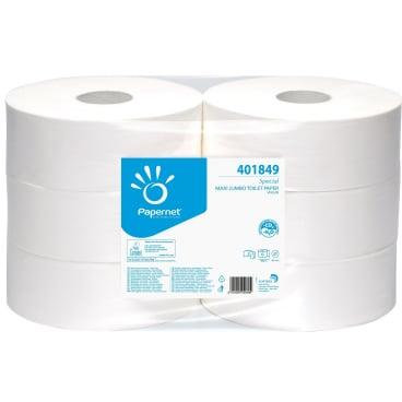 Toilettenpapier Jumbo, 2-lagig, weiß