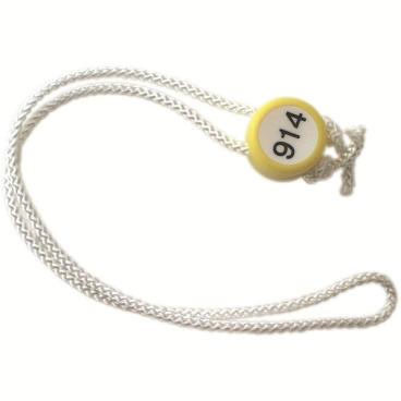 Verschlussknebel für Wäschenetze DIBE mit Kennzeichnung