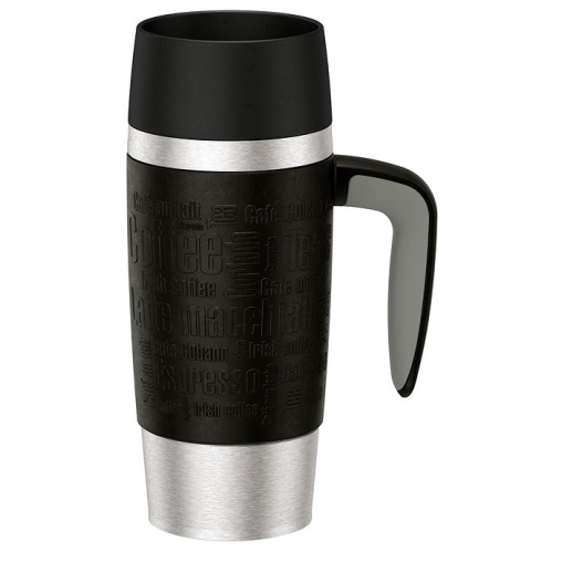 EMSA Travel Mug Handle Isolierbecher mit Quick Press Verschluss