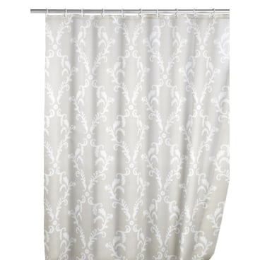 WENKO Anti-Schimmel Duschvorhang gemustert, 180 x 200 cm