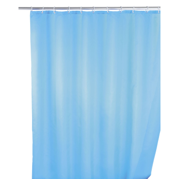 WENKO UNI Anti-Schimmel Duschvorhang UNI Farbe: Light Blue / Hellblau
