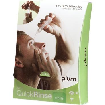 Plum Quick Rinse Mini Augenspülampullen