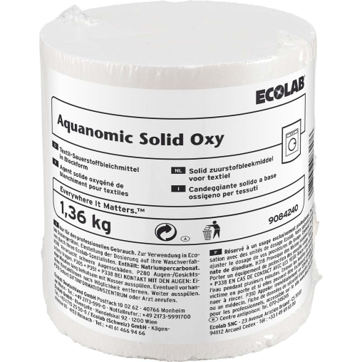 ECOLAB Aquanomic Solid Oxy Bleichmittel