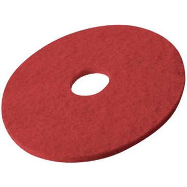 Vileda Professional DynaCross Superpads, 20 mm dick 1 Packung = 5 Stück, rot, Ø 380 mm