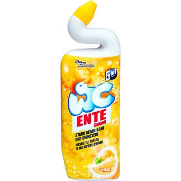 WC-Ente 5 in 1 WC Reiniger-Gel  WC Ente Citrus-Gel