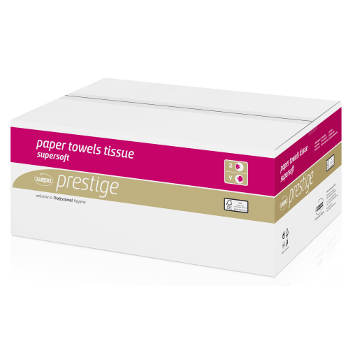 Wepa Prestige Tissue-Format-Handtuchpapier, 2-lagig