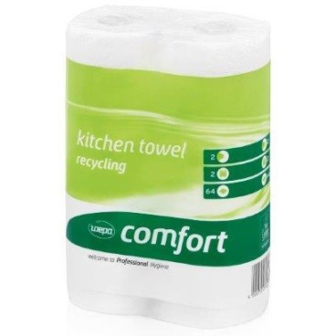 Wepa Comfort Küchentücher, 2-lagig, Hochweiß