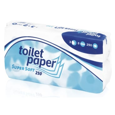 Super Soft Toilettenpapier, 3-lagig, Hochweiß