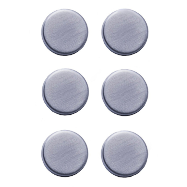 Zeller Edelstahl Magnet-Set, 6-teilig