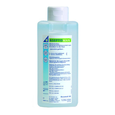 DESOMED Aseptoman Plus Händedesinfektionsmittel 150 ml - Kittelflasche