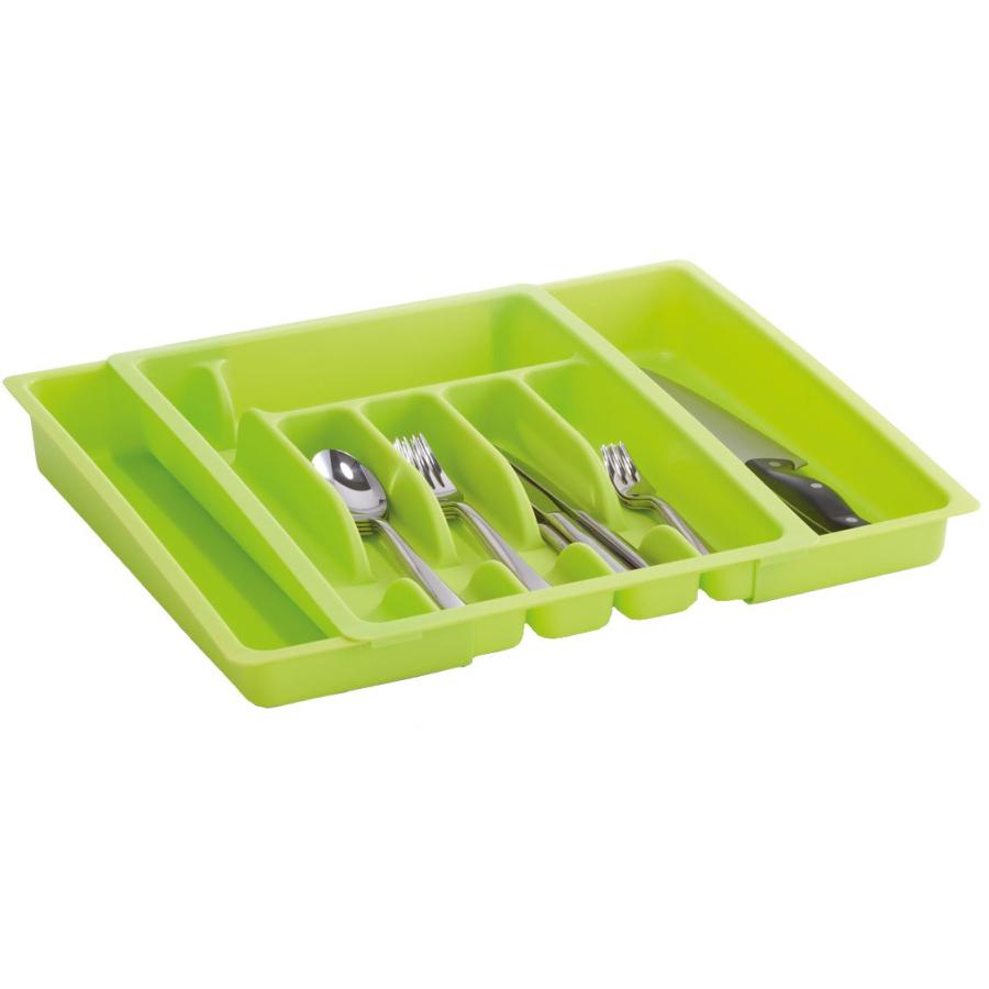 Zeller Besteckkasten für Schublade Einsatz ausziehbar verstellbar Kunststoff