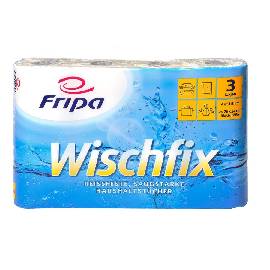 Fripa Wischfix Kuchenrolle 3 Lagig 1 Paket 8 Packungen 32