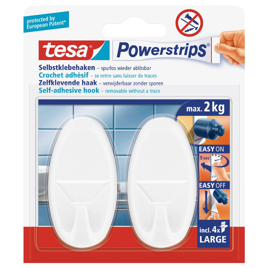 tesa powerstrips haken large oval 1 packung 2 haken online kaufen. Black Bedroom Furniture Sets. Home Design Ideas