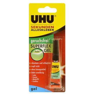 UHU Sekunden Alleskleber geruchsfrei Superflex Gel