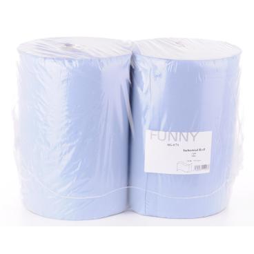 Papierputztuch auf Rolle, 36x38 cm, 3-lagig, blau